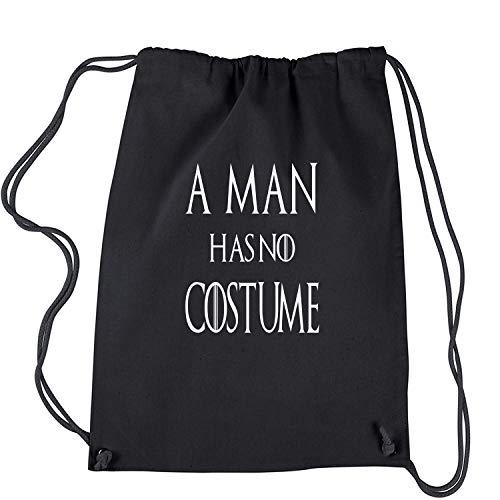 Expression Tees Herren Rucksack EIN Mann hat kein kostüm got Halloween-Rucksack Groß Schwarz
