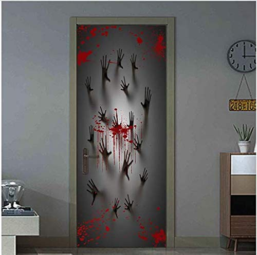 Newberli Wandaufkleber Halloween Haunted House Decor Fenster Tür Abdeckung Aufkleber Zombie Hand Wall Decor