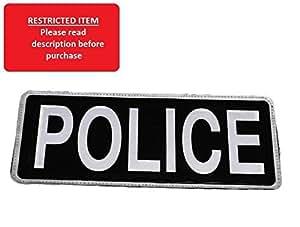 Badge réfléchissant Noir POLICE (Grand)-LIVRAISON GRATUITE