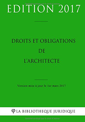 Droits et obligations de l'architecte