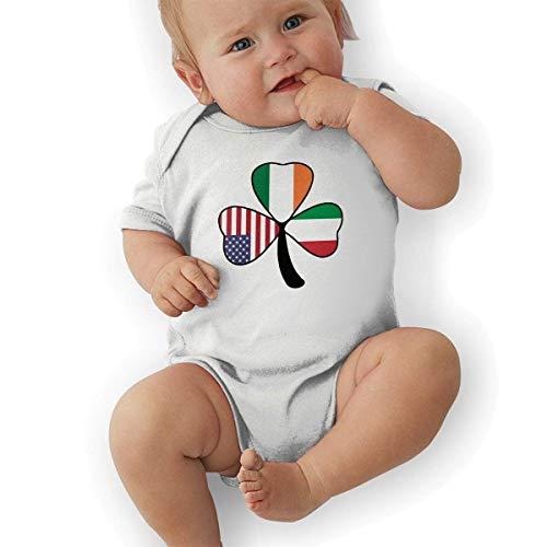 fdgjydjsh Italian Irish American Shamrock Funny Baby Onesies Novelty Toddler Infant Bodysuits Short Sleeve White 6M Irish Infant Bodysuit