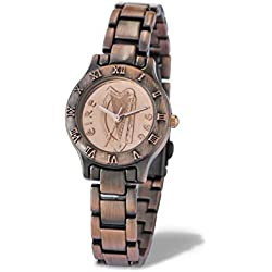 Ladies Irish Decimal One Penny Coin Watch in Bronze Style
