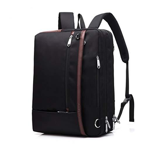 Convertible Schulter Tasche (KKCD Laptop-Rucksack Convertible Laptop Bag 17 17,3 Zoll Rucksack Tasche Notebook Schulter Messenger Bag Laptop Tasche Handtasche Business Aktentasche Rucksack (Farbe : SCHWARZ))