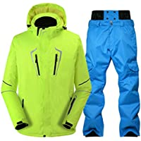 Jiuyizhe Cálido Traje de esquí Pantalones de esquí de los Hombres de Invierno al Aire Libre a Prueba de Viento Chaqueta de esquí (Color : 05, Size : S)