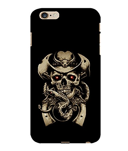 Printtech Cowboy Skull snake Funky Slim Back Case Cover for iphone 6 Plus / 6s Plus  available at amazon for Rs.374