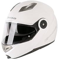 G-Mac casco de moto con visera Blanco blanco Talla:[53-54cm