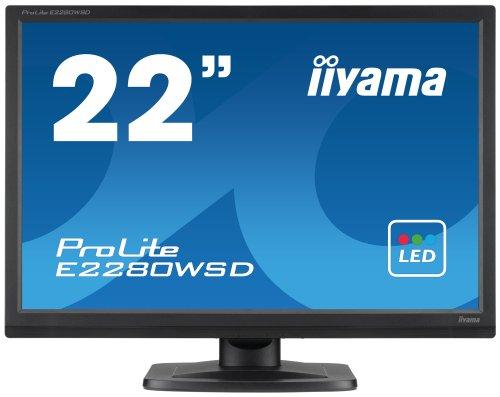 IIYAMA E2280WSD-B 22 inch Widescreen LED Monitor (1680x1050, DVI/MM)