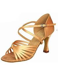 CFP - Zapatillas de danza mujer , color Dorado, talla 37 EU(6 cm)
