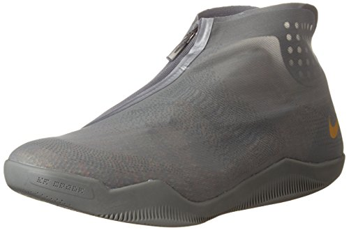 Nike Kobe XI Alt Mens Hi Top Basketball Trainers 880463 Sneakers Shoes Tumbled Grey/Metallic Gold