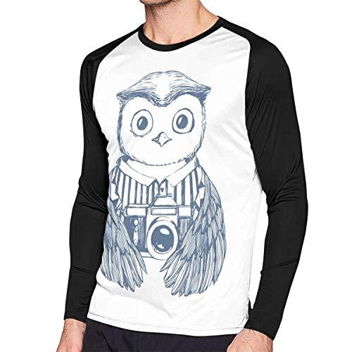 Herren Langarm Classic T-Shirt, Men's Casual Photographer Long Reglan T-Shirt -