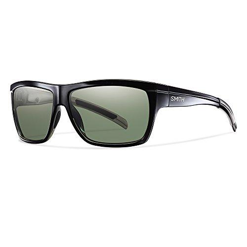 Smith Erwachsene Sportbrille Mastermind Sonnenbrille, Schwarz (Shiny Black/Grey Green), 60