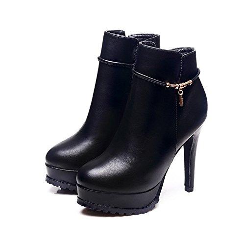 Tacco alto stivali di Martin tallone sottile black