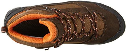 Aigle Arven Mid MTD, Chaussures de Randonnée Basses Homme Marron (Dark Brown/Orange)