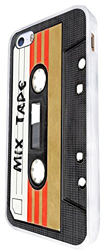 x Tape Kassette Player Retro Musik Dance Hip Hop RNB Boom Box Design für iPhone SE-2016Fashion Trend Case Back Cover Kunststoff & Metall dünn-weiß ()