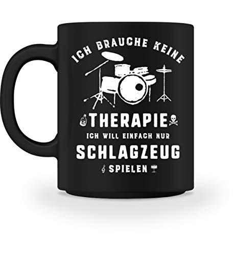 Schlagzeug spielen statt Therapie - Die Schlagzeug Geschenkidee ist erhältlich als Pullover,...