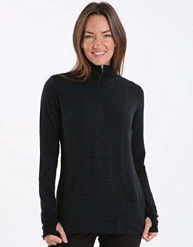 - 417 r9GjvKL - Cuddl Duds Comfortwear Long Sleeve Half-Zip Mock