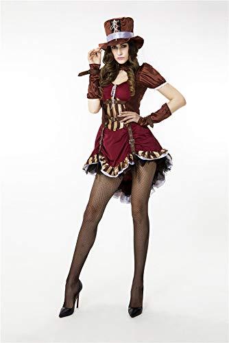 Simmia Halloween Kostüm,Halloween-Piratenkostüm Western Cowboy Cosplay Kostüm Jazztanz Tiertrainer Magier, 8804, U