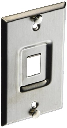 Leviton 4108W-1SP QuickPort Telephone Wall Jack, Stainless Steel, Recessed Port by Leviton -