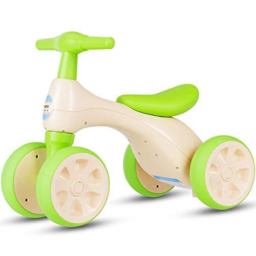 COSTWAY Baby Laufrad | Lauflernrad 4 Rädern | Rutscherfahrzeug Kleinkind | Kinder Balance Bikes | Spielzeug Farbwahl (Grün)