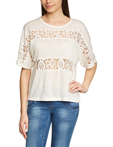 Only Damen T-Shirt Onlbetty 2/4 Lace Top JRS Weiß (Cloud Dancer)