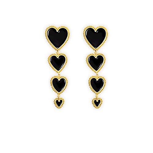 JERKKY 1 para Ohrringe Elegante Emaille Liebe Herz Baumeln Ohrringe Valentinstag Modeschmuck C #