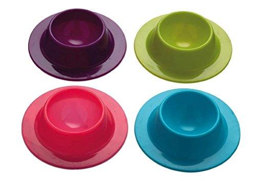 Da.Wa Lot de 4 Coquetiers en Silicone- -Un ensemble (Violet, Rose,bleu, Vert)