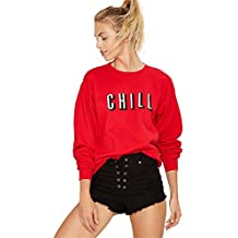 COCO clothing Otoño Sudaderas de Mujer Cuello Redondo Camisetas Chica Alfabeto Imprimen Adolescentes Deportivas Sweatshirt Casual