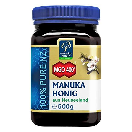 Manuka Health - Manuka Honig MGO 400 + 500g - 100{f862e443ba1f4c526cc33c1f56b0f3aaa7c60ceec970c42b0e3f48ee2d70fd50} Pur aus Neuseeland mit zertifiziertem Methylglyoxal Gehalt