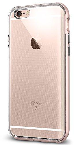 Spigen Coque iPhone 6s, Coque iPhone 6 / 6s [Neo Hybrid EX] Premium Bumper [Rose Gold] TPU Claire/Le Cadre en PC Double Couche Etui Mince Coque pour iPhone 6 (2014) / 6s (2015) - Rose Gold (SGP11725)