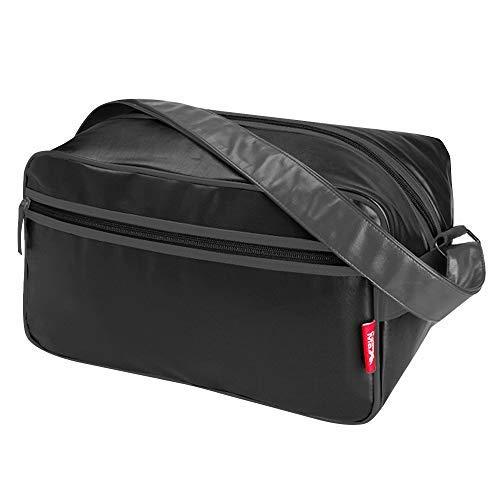 Cabin Max®️ - Arezzo Stowaway XL – Bagage à Main 20x40x25 20L - Sac de Voyage Cabine approuvé par Ryanair - Sac à Bandoulière Parfait pour Les Vols Ryanair (Noir/Gris)
