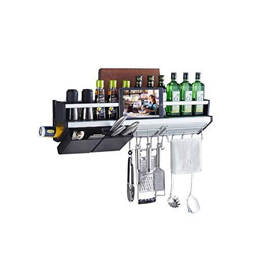 U-küche Regal (Xue-shelf Küchen-Multifunktionsmesser-Halter-Gewürz-Gestell u. Kräutergestell-Gewürzdosen-Flaschenhalter-Speicher-Organisator-Regal-Gestell für die an der Wand befestigte Küche, Pantry)