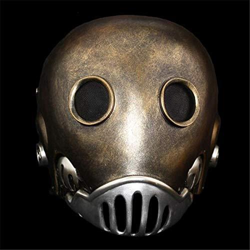 Kostüm Kroenen - VAWAA Hellboy Uhrwerk Roboter Mann Maske Terror Full Face Alien Harz Masken Kroenen Gesicht Maskerade Halloween Cosply Kostüm Party Requisiten