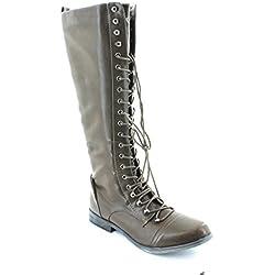 XOXO Frauen Baker Pumps rund Fashion Stiefel Braun Groesse 6.5 US /37.5 EU