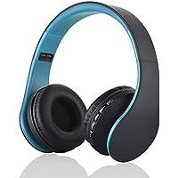 Cuffie Bluetooth, PUGO TOP Wireless pieghevole Cuffie stereo auricolari con radio FM, Slot per scheda TF, Lettore MP3, microfono, 3,5mm cavo della porta, 5ore di