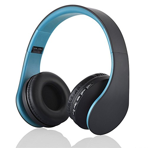 Bluetooth drahtlose Kopfhörer, EONSMN 4 in 1 Stereo Bluetooth faltbare Headsets mit Micro Support SD / TF Karte für Smart Phones Tablet PC Notebook (Blue)