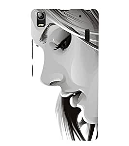 FUSON Confident Lady Face 3D Hard Polycarbonate Designer Back Case Cover for Lenovo A7000 :: Lenovo A7000 Plus :: Lenovo K3 Note