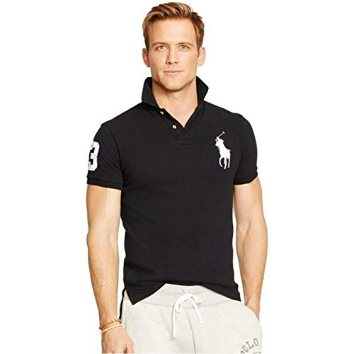 Big Pony Shirt (Ralph Lauren Herren Poloshirt Big Pony Slim Fit (XL, Schwarz))