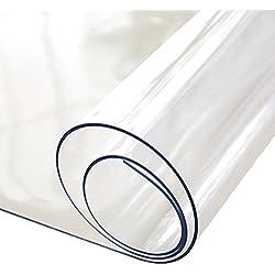 Gorgebuy Mantel Claro del rectángulo del, Protector de la Tabla Adaptable, Mantel Impermeable Resistente a los rasguños de la Prueba de la Grasa