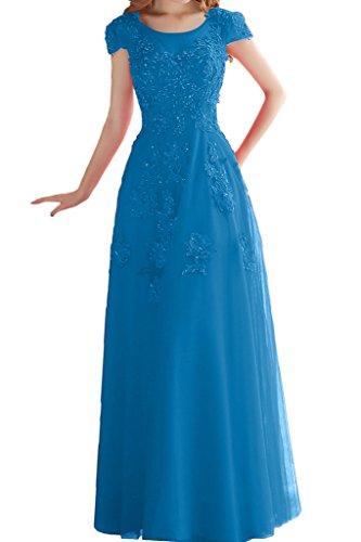 Prom Style Elegant A-linie Tuell Abendkleider Ballkleider Bodenlang mit Spitze  Promkleider Festkleider Applikation Neu