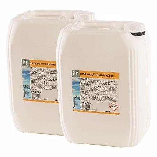 2 x 28 kg pH Senker flüssig - VERSANDKOSTENFREI - im Vorratskanister - für Dosieranlagen geeignet