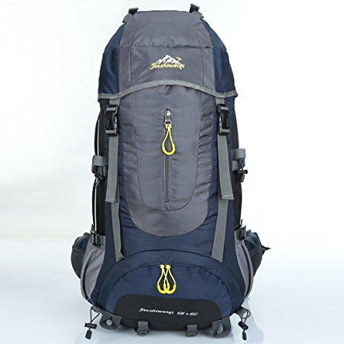 LMR Wandern Rucksack Outdoor 70L Wasserdicht Outdoor Sport Camping Tasche für Outdoor Sport Klettern Bergsteiger Dunkelblau