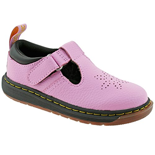 Dr. Martens Girls Kids DULICE T PBl Mallow Pink T Bar Shoes 23248690-UK 10 (EU 28)