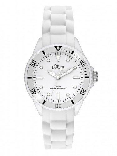 s. Oliver–Bracciale unisex orologio Small Size Silicone Bianco So 2296PQ
