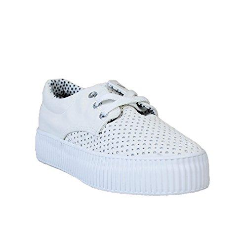 Buonarotti , Chaussures de ville à lacets pour femme Blanc