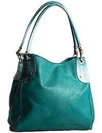 BHBS Femmes Mode Multiples poches Mesdames Mode épaule poignée supérieure sac à main 30x28x14 cm (LxHxP)