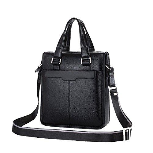Yy.f Leder Mann Tasche Umhängetasche Geschäft Mannkurierbeutel Erste Schicht Aus Leder Handtaschen Taschen Einfarbig 2-Farben-Beutel Brown