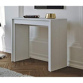 Tavolo Consolle Allungabile Arcobaleno.Itamoby Arcobaleno 90cm Consolle Allungabile Nobilitato Bianco