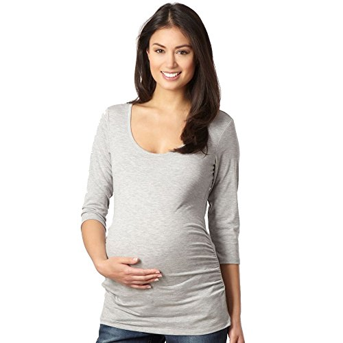 Red Herring Maternity Damen Umstandsmode/Grau, 3/4-Sleeve Top (Sleeve Red 3/4 Top)
