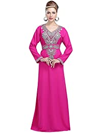 b542801b20 Maxim Creation New Maghribi Caftan with Simple Embroidery Design for Women  by 6139 Pink