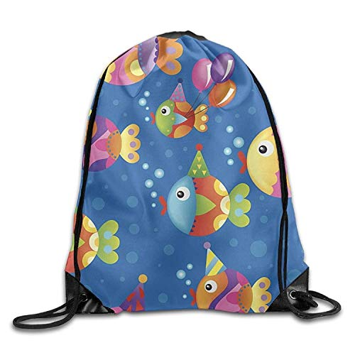on Halloween Unisex Gym Drawstring Shoulder Bag Backpack String Bags ()